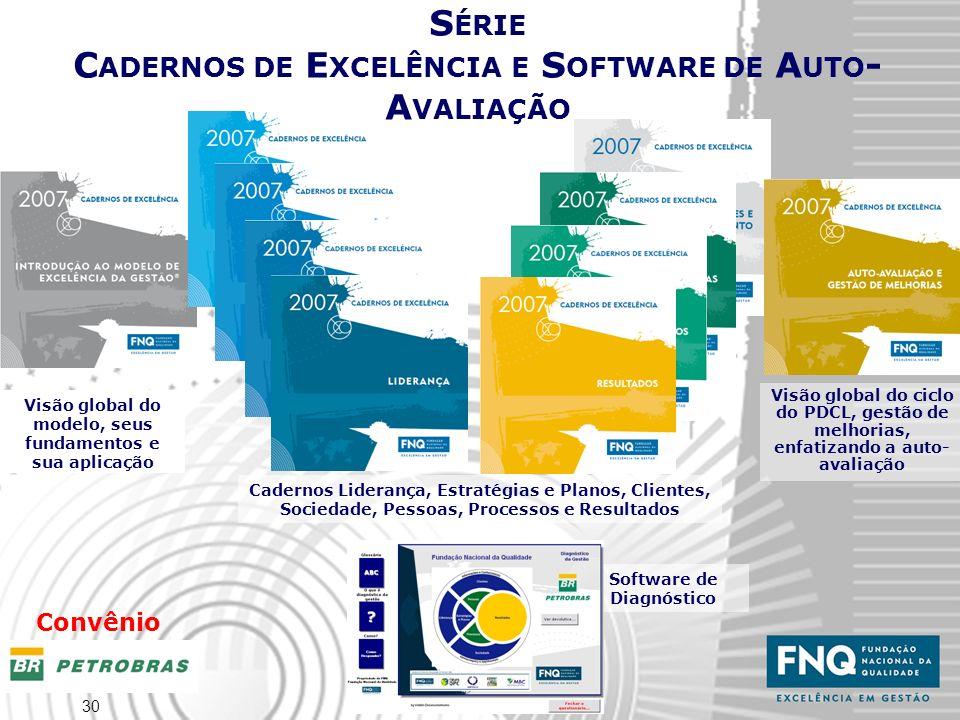 30 Software de Diagnóstico Visão global do modelo, seus fundamentos e sua aplicação S ÉRIE C ADERNOS DE E XCELÊNCIA E S OFTWARE DE A UTO - A VALIAÇÃO