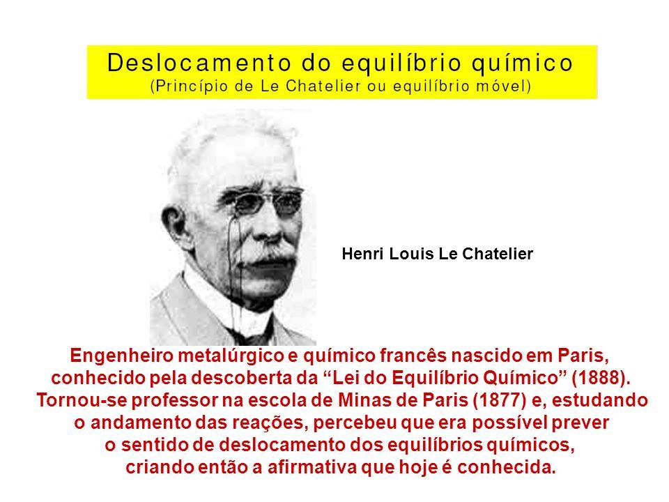 Henri Louis Le Chatelier Engenheiro metalúrgico e químico francês nascido em Paris, conhecido pela descoberta da Lei do Equilíbrio Químico (1888). Tor
