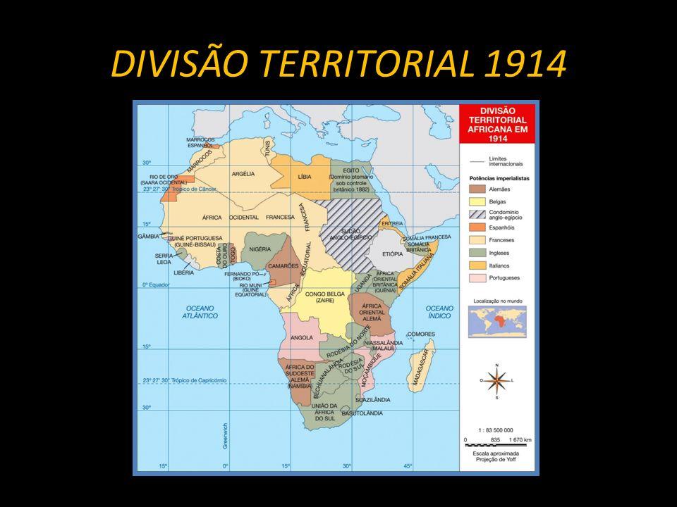 DIVISÃO TERRITORIAL 1914