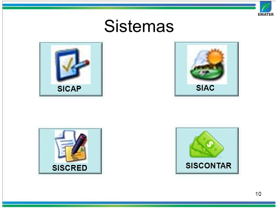 10 SISCONTAR SIAC SICAP SISCRED Sistemas