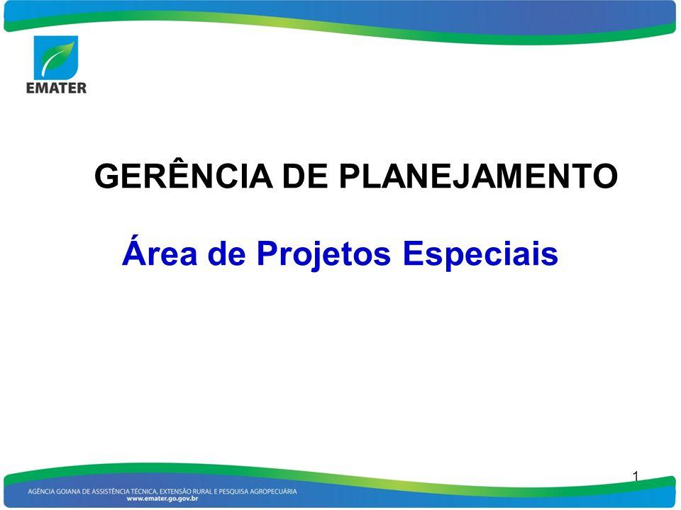 1 GERÊNCIA DE PLANEJAMENTO Área de Projetos Especiais