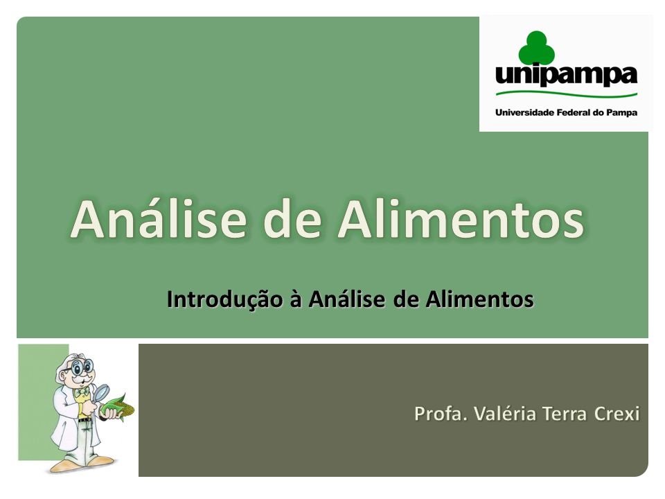 Métodos de Análise Instrumentais: Os mais utilizados atualmente; Utilizados em alternativa aos convencionais, sempre que possível.