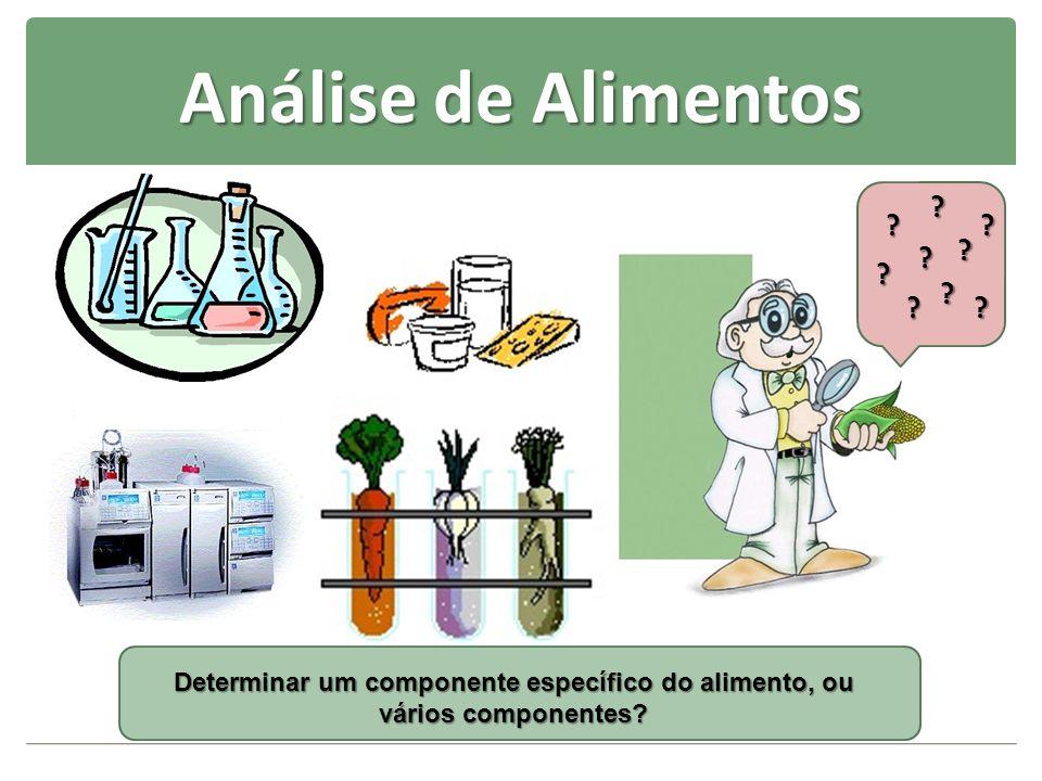 Análise de Alimentos ? ? ? ??? ? ? ? Determinar um componente específico do alimento, ou vários componentes?