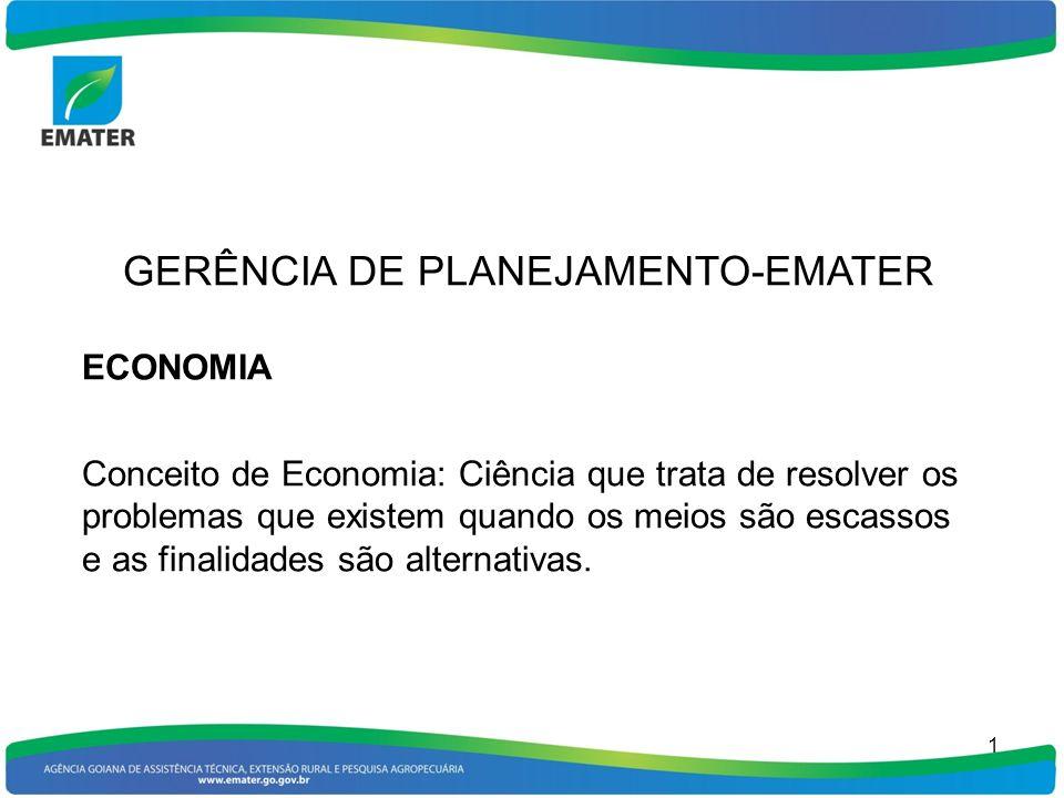 ECONOMIA RURAL Economia Rural: Ciência que estuda as relações econômicas no meio rural, preocupando-se fundamentalmente com as atividades de produção e comercialização agropecuária.
