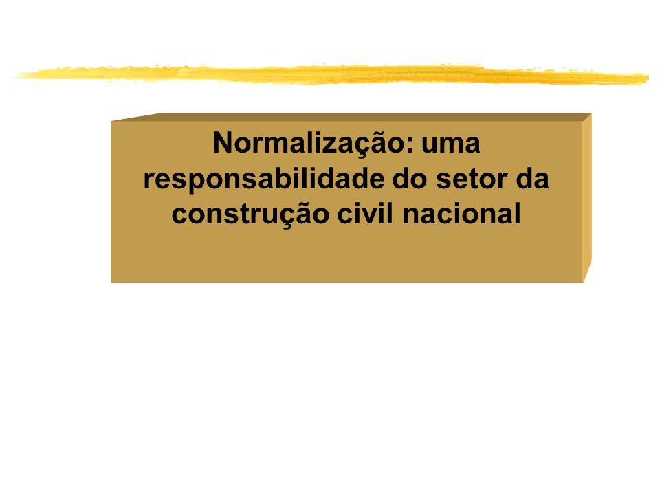 Normalização: uma responsabilidade do setor da construção civil nacional