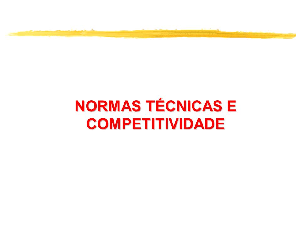 Normas técnicas no combate à concorrência predatória Construção Civil - exposta à não conformidade de produtos; de projeto e de serviços.