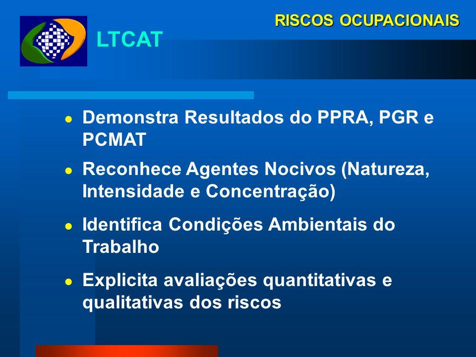 RISCOS OCUPACIONAIS LTCAT Declaração Pericial Emitida por Engenheiro de Segurança ou Médico do Trabalho Deve apresentar conclusão clara e objetiva ace