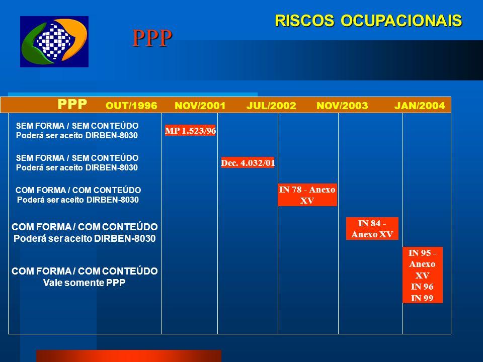 RISCOS OCUPACIONAIS PPP IRREGULARIDADES - MULTAS Conforme o Regulamento da Previdência Social, aprovado pelo Decreto 3048/99, com a nova redação dada