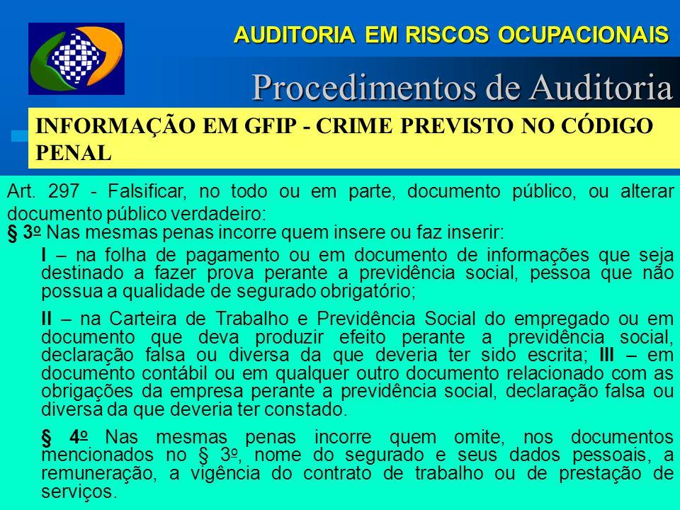 AUDITORIA EM RISCOS OCUPACIONAIS Demonstrações Ambientais Requisitos Demonstrações Documentos da DRT: (Acessórios, não impedem Auditoria em Riscos) LI