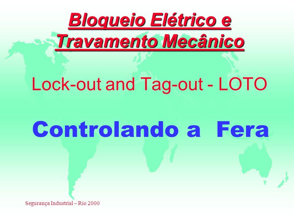 Segurança Industrial – Rio 2000 Bloqueio Elétrico e Travamento Mecânico Bloqueio Elétrico e Travamento Mecânico Lock-out and Tag-out - LOTO Controland