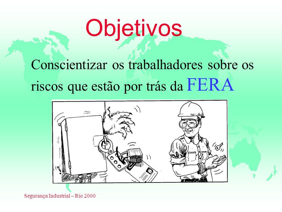 Segurança Industrial – Rio 2000 Objetivos Conscientizar os trabalhadores sobre os riscos que estão por trás da FERA