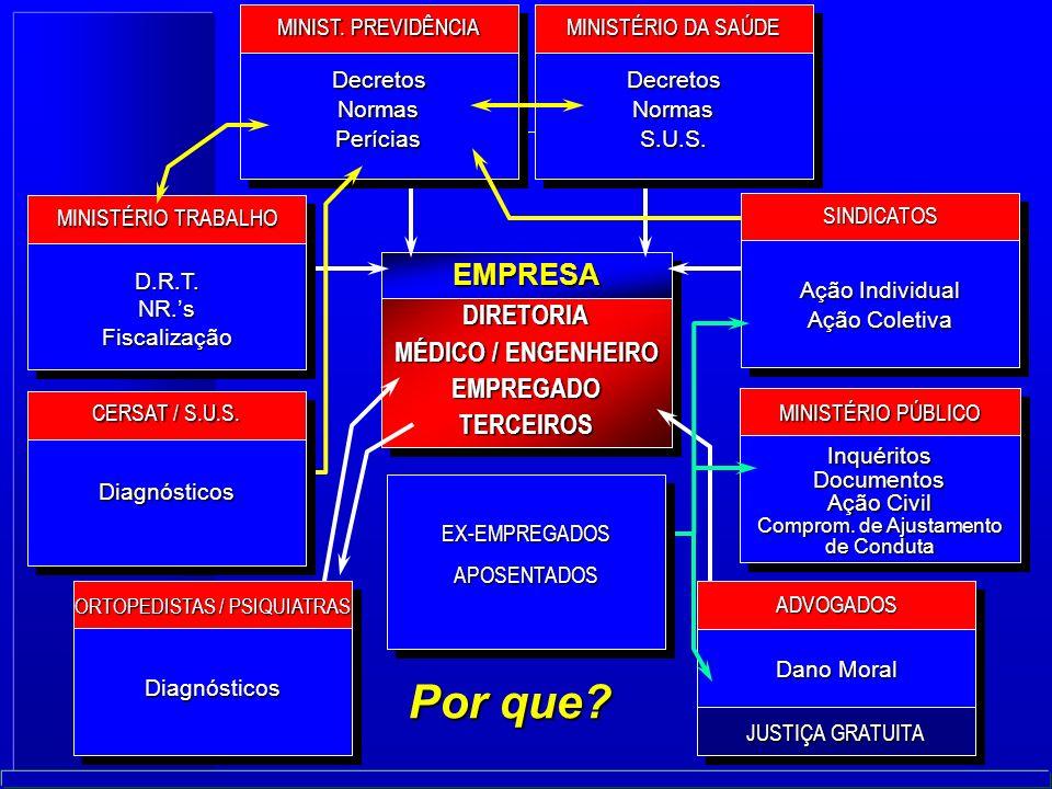 DIRETORIA MÉDICO / ENGENHEIRO EMPREGADOTERCEIROS EMPRESA Por que.