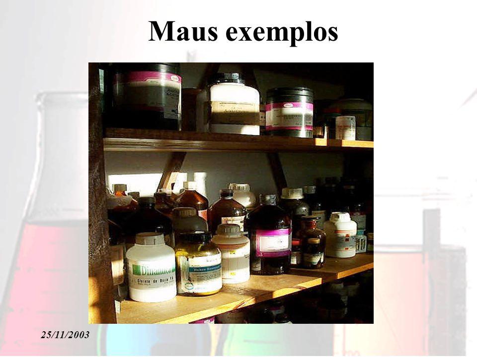 25/11/2003 Maus exemplos