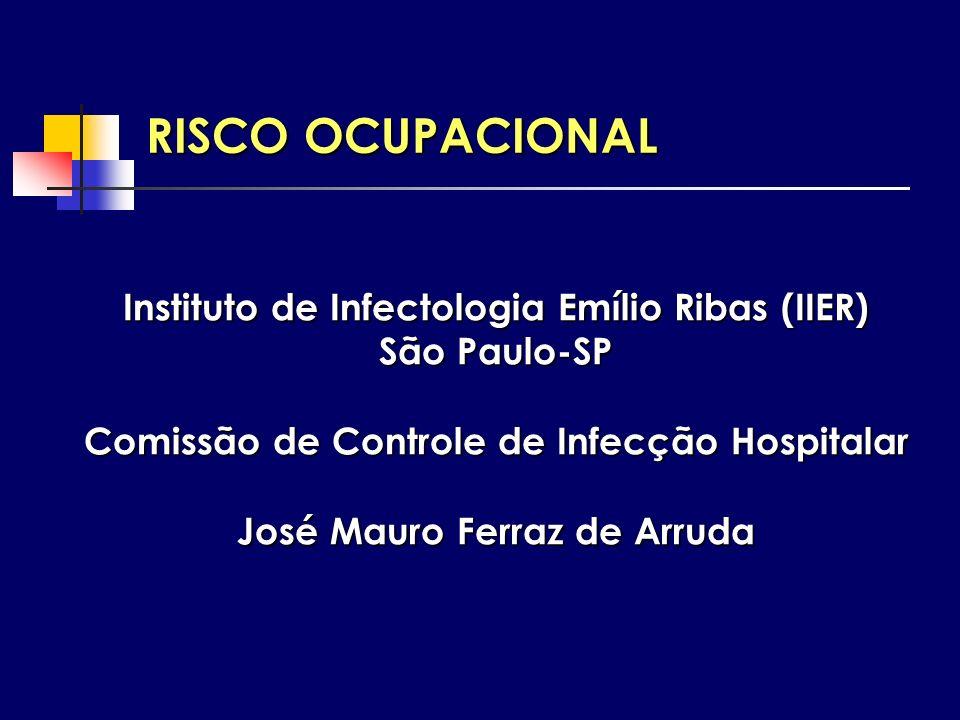Instituto de Infectologia Emílio Ribas (IIER) São Paulo-SP Comissão de Controle de Infecção Hospitalar José Mauro Ferraz de Arruda RISCO OCUPACIONAL