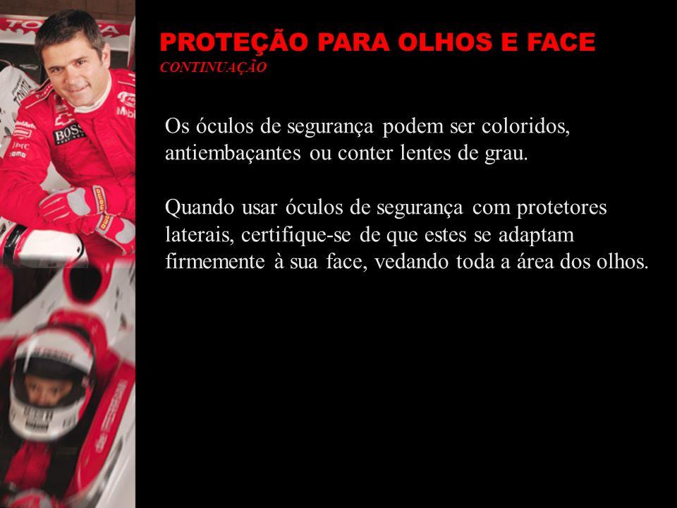 PROTEÇÃO PARA A CABEÇA- Segundo Padrões OSHA Use um capacete se existe risco de queda de objetos na sua área de trabalho ou exposição a condutores elétricos.