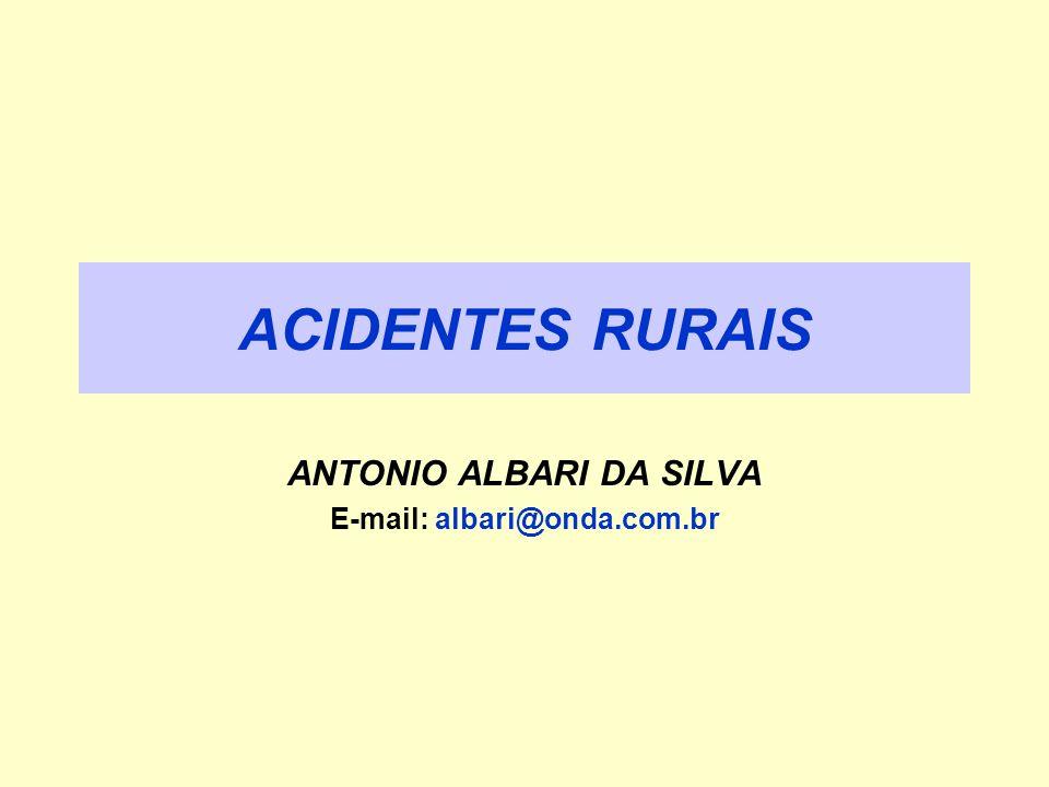 ACIDENTES RURAIS ANTONIO ALBARI DA SILVA E-mail: albari@onda.com.br