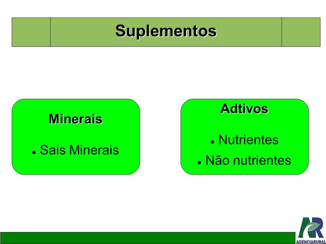 Suplementos Minerais Sais MineraisAdtivos Nutrientes Não nutrientes