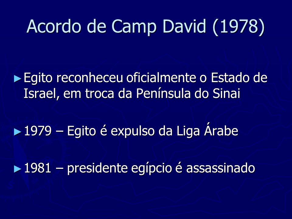 Anwar Sadat (Eg), Jimmy Carter (EUA), Menachem Begin (Is)