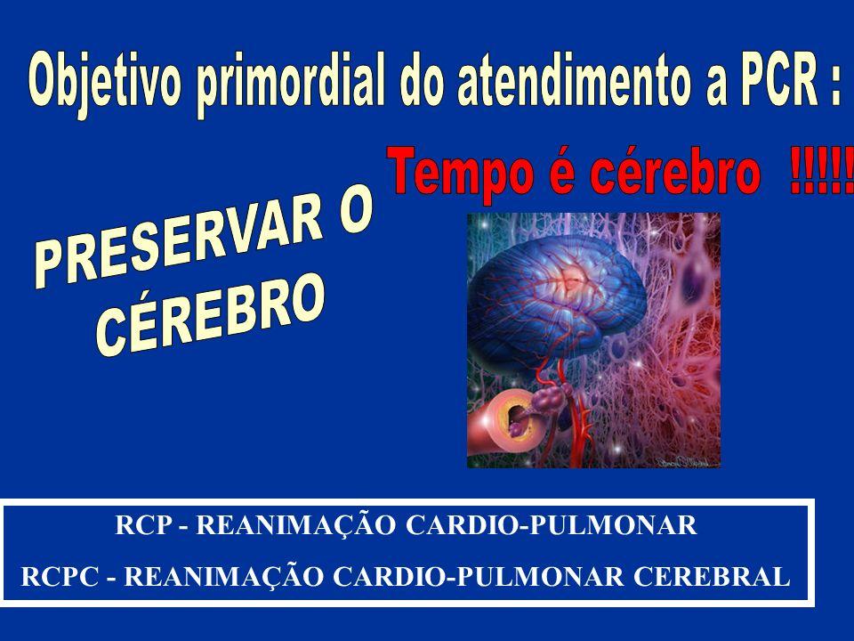RCP - REANIMAÇÃO CARDIO-PULMONAR RCPC - REANIMAÇÃO CARDIO-PULMONAR CEREBRAL