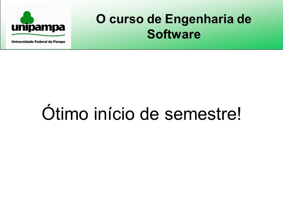 O curso de Engenharia de Software Ótimo início de semestre!