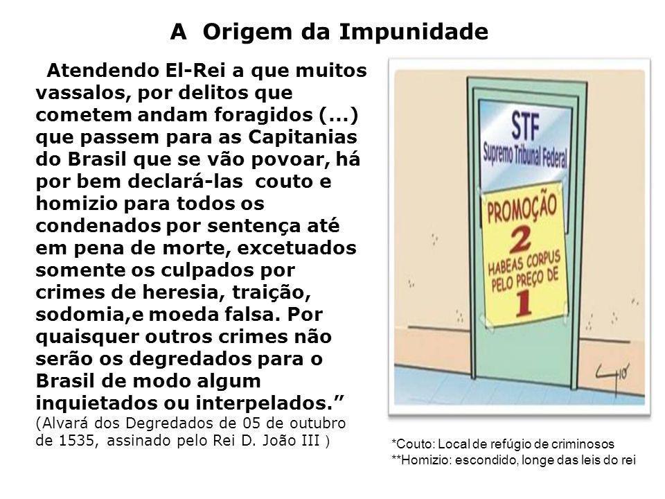 Atendendo El-Rei a que muitos vassalos, por delitos que cometem andam foragidos (...) que passem para as Capitanias do Brasil que se vão povoar, há po