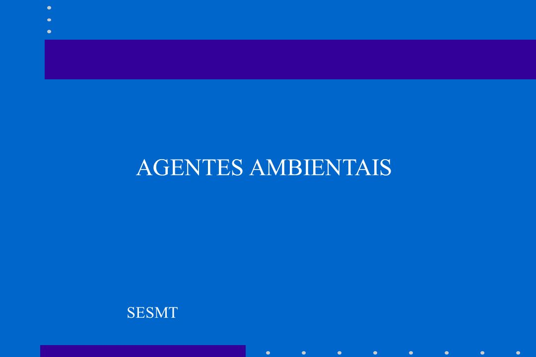 AGENTES AMBIENTAIS SESMT