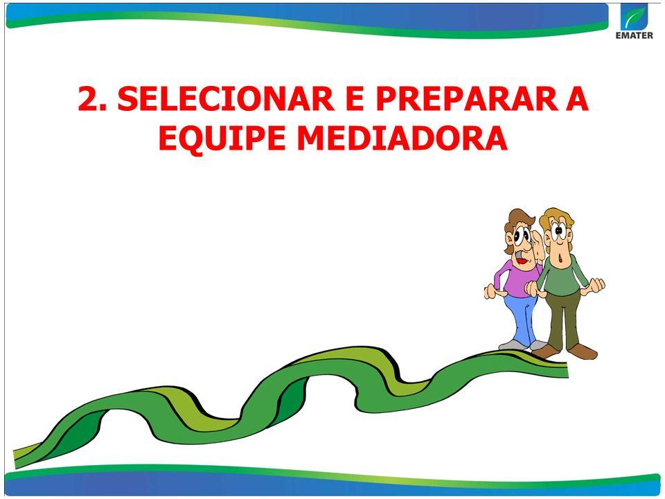 2. SELECIONAR E PREPARAR A EQUIPE MEDIADORA