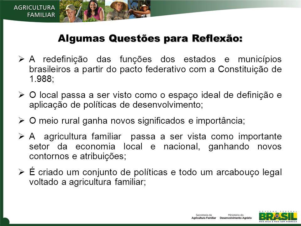 A redefinição das funções dos estados e municípios brasileiros a partir do pacto federativo com a Constituição de 1.988; O local passa a ser visto com