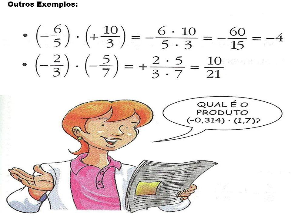 1ª Propriedade: Comutativa é a mesma coisa que Em uma multiplicação de números racionais, a ordem dos fatores não altera o produto.