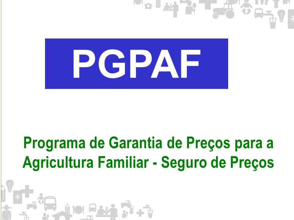PGPAF Programa de Garantia de Preços para a Agricultura Familiar - Seguro de Preços