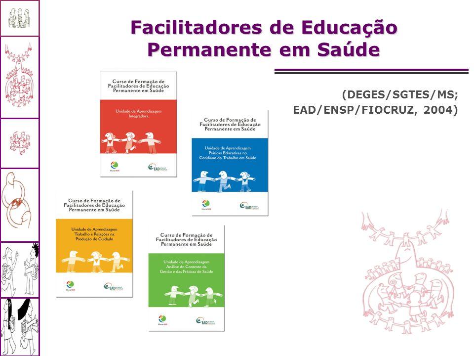 Facilitadores de Educação Permanente em Saúde (DEGES/SGTES/MS; EAD/ENSP/FIOCRUZ, 2004)