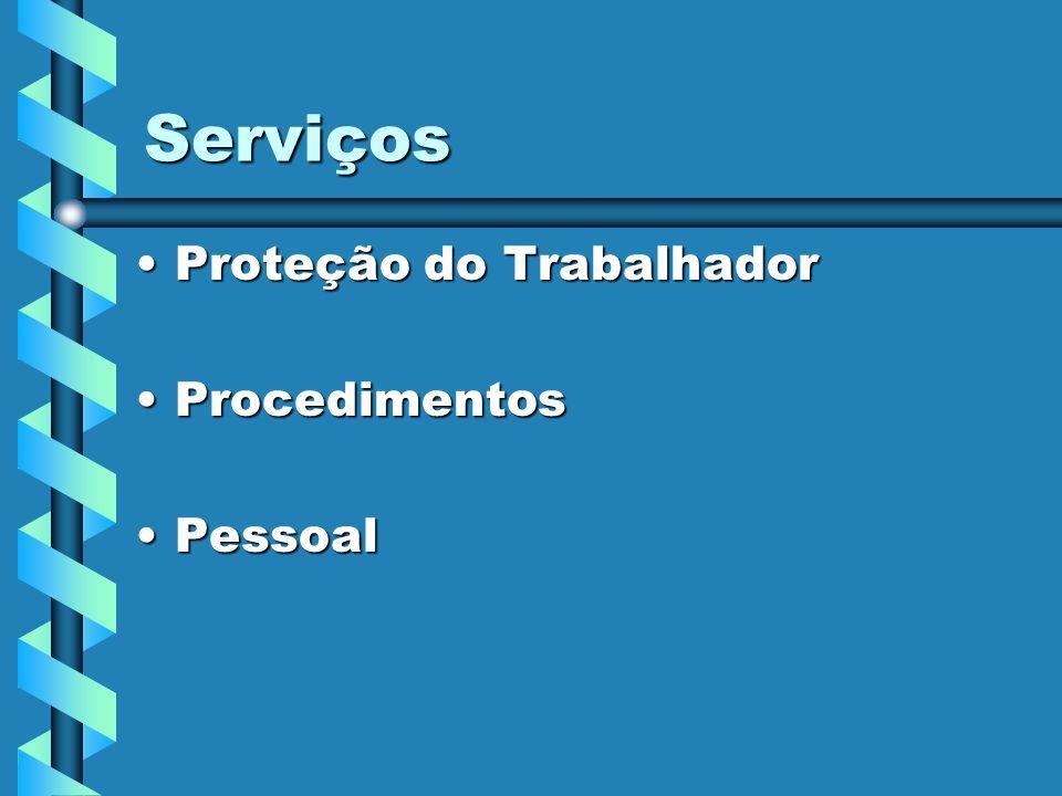 Serviços Proteção do TrabalhadorProteção do Trabalhador ProcedimentosProcedimentos PessoalPessoal