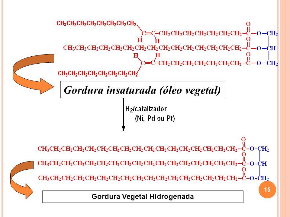 Gordura insaturada (óleo vegetal) Gordura Vegetal Hidrogenada 15