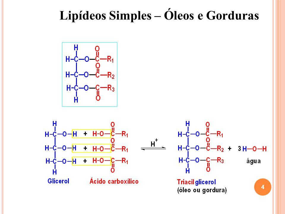 Poderão também possuir substituintes na cadeia, como grupos metílicos, hidroxílicos ou carbonílicos.