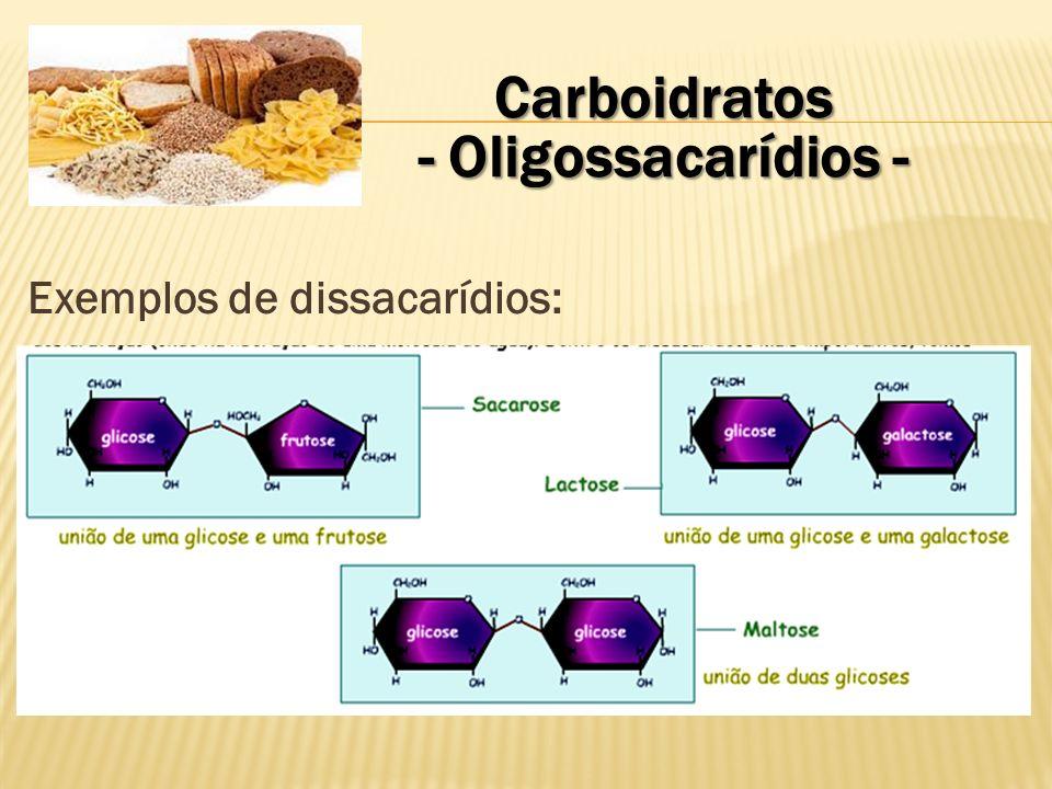 Carboidratos - Oligossacarídios - Exemplo de ligação glicosídica
