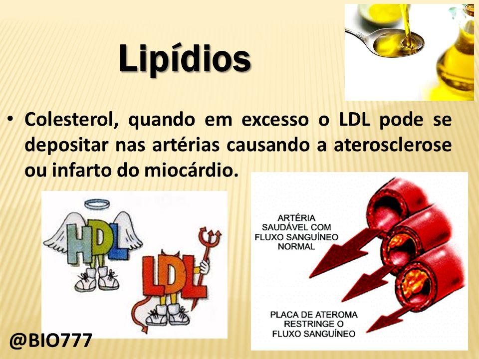 Lipídios Níveis aceitáveis de colesterol LDL de acordo com a American Heart Association:
