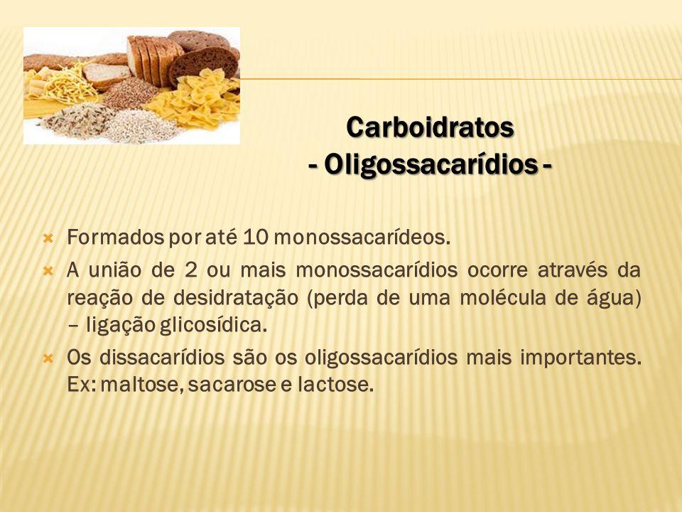 Carboidratos - Oligossacarídios - Exemplos de dissacarídios: