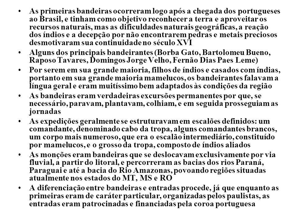 EXÉRCITO BRASILEIRO DECEx – DEPA – CMF DISCIPLINA: HISTÓRIA 2º ANO DO ENSINO MÉDIO ASSUNTO: O BANDEIRANTISMO I OBJETIVOS LOCALIZAR GEOGRAFICAMENTE A ÁREA DE ATUAÇÃO DAS BANDEIRAS ANALISAR AS CONSEQUÊNCIAS ECONÔMICAS, POLÍTICAS E SOCIAIS DO BANDEIRANTISMO IDENTIFICAR OS FATORES ECONÔMICOS E POLÍTICOS QUE LEVARAM AO ABANDONO DA LINHA DE TORDESILHAS INTRODUÇÃO: REVISÃO DA AULA PASSADA