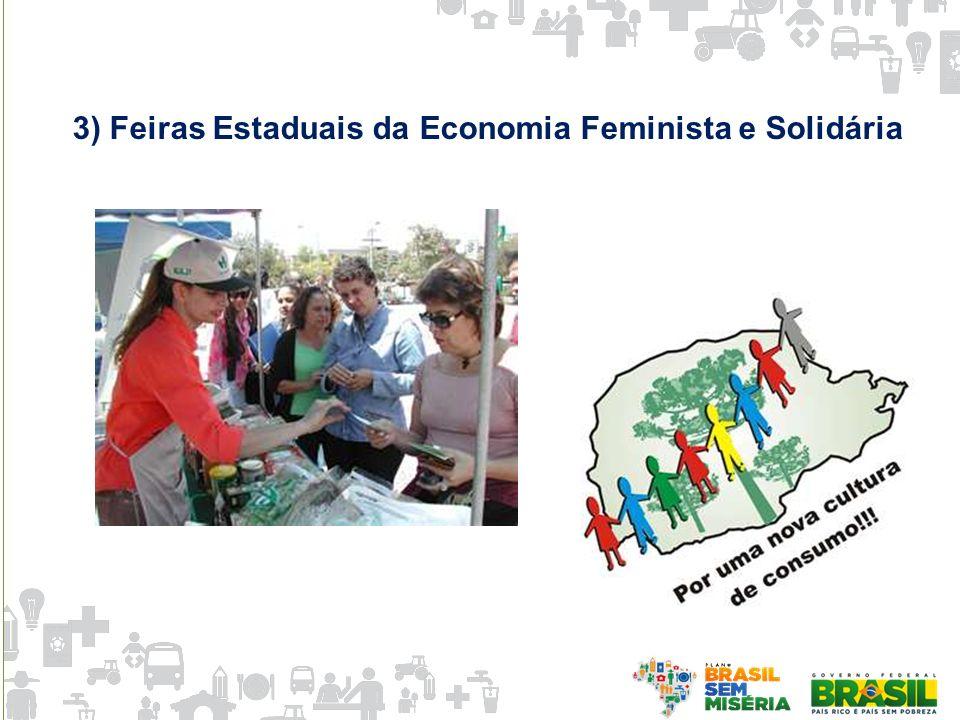 3) Feiras Estaduais da Economia Feminista e Solidária