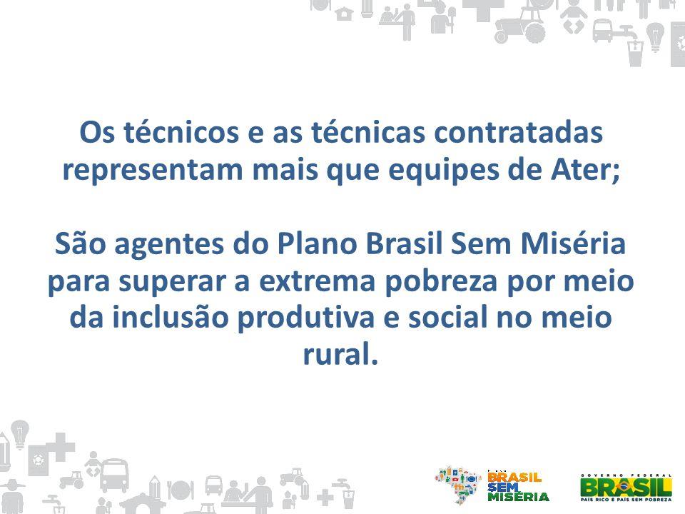 Os técnicos e as técnicas contratadas representam mais que equipes de Ater; São agentes do Plano Brasil Sem Miséria para superar a extrema pobreza por