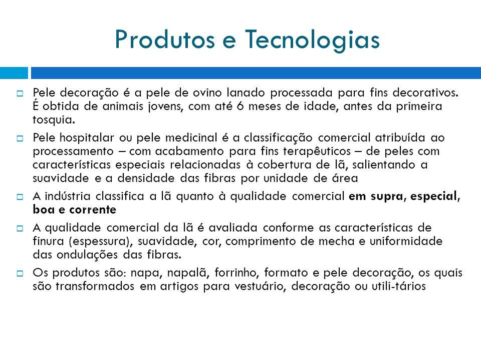 Produtos e Tecnologias Pele decoração é a pele de ovino lanado processada para fins decorativos.