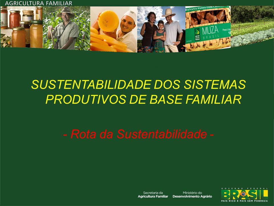 SUSTENTABILIDADE DOS SISTEMAS PRODUTIVOS DE BASE FAMILIAR - Rota da Sustentabilidade -