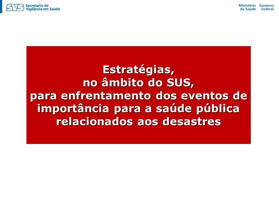 Estruturação do Programa Nacional de Vigilância em Saúde Ambiental dos Riscos Associados de Desastres – VIGIDESASTRES