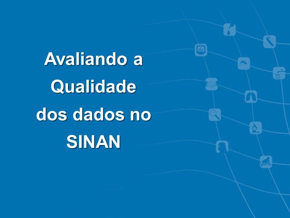 Intoxicações Exógenas - Notificação SINAN Avaliando a Qualidade dos dados no SINAN Avaliando a Qualidade dos dados no SINAN