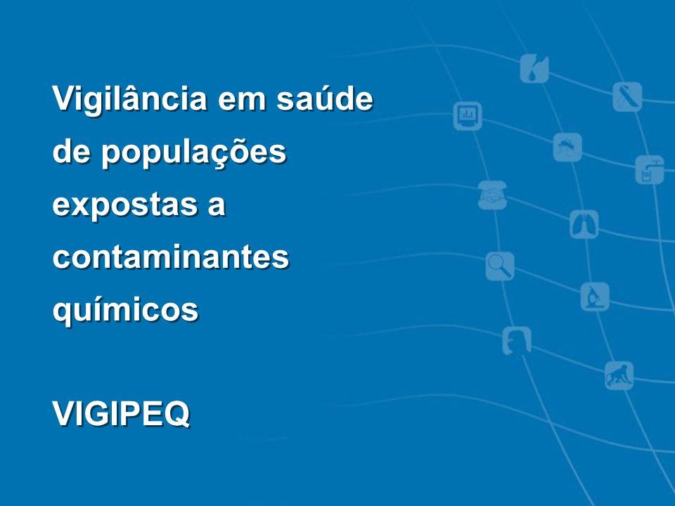 VIGIPEQ - SISSOLO Vigilância em saúde de populações expostas a contaminantes químicos VIGIPEQ Vigilância em saúde de populações expostas a contaminant