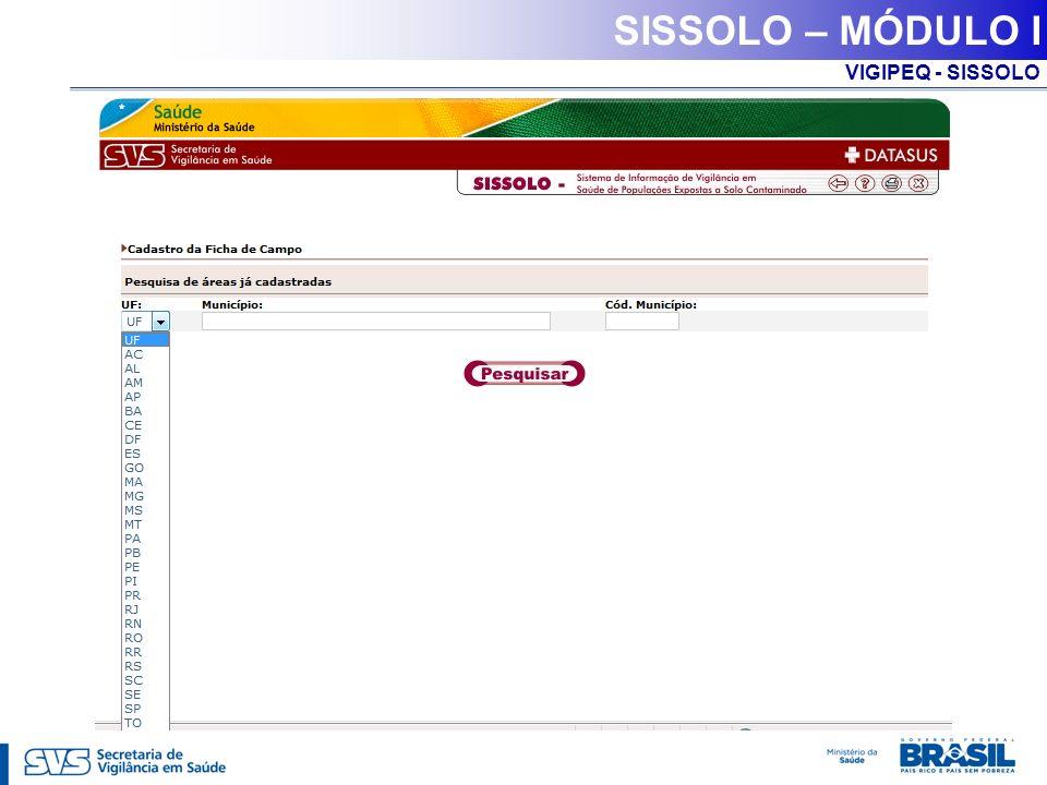 VIGIPEQ - SISSOLO SISSOLO – MÓDULO I