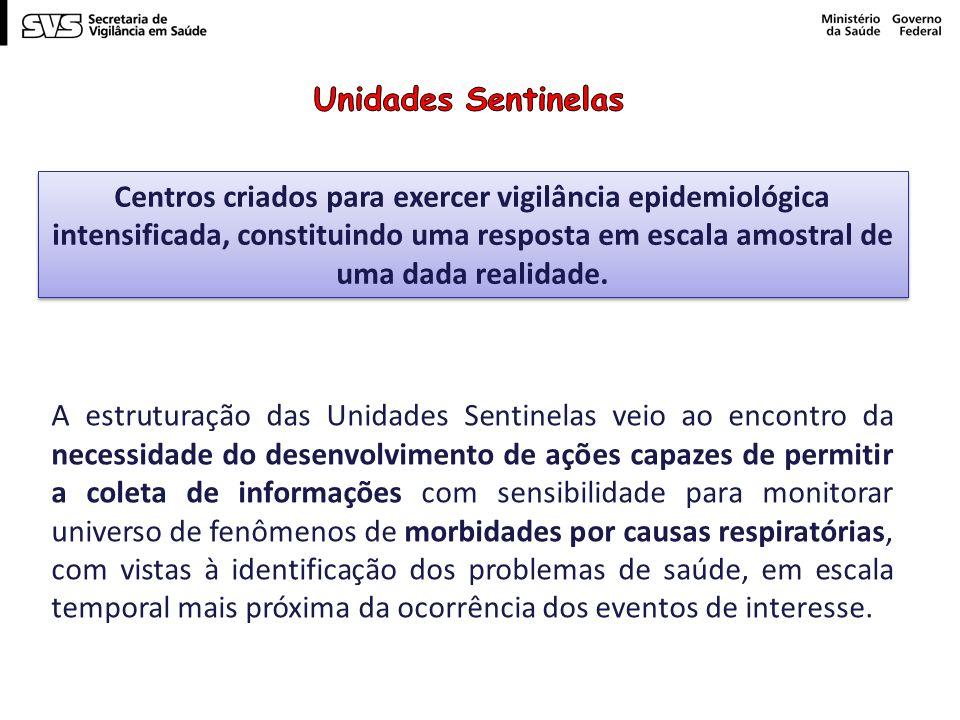 Centros criados para exercer vigilância epidemiológica intensificada, constituindo uma resposta em escala amostral de uma dada realidade.