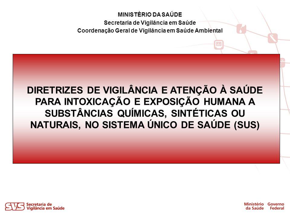 MINISTÉRIO DA SAÚDE Secretaria de Vigilância em Saúde Coordenação Geral de Vigilância em Saúde Ambiental DIRETRIZES DE VIGILÂNCIA E ATENÇÃO À SAÚDE PA
