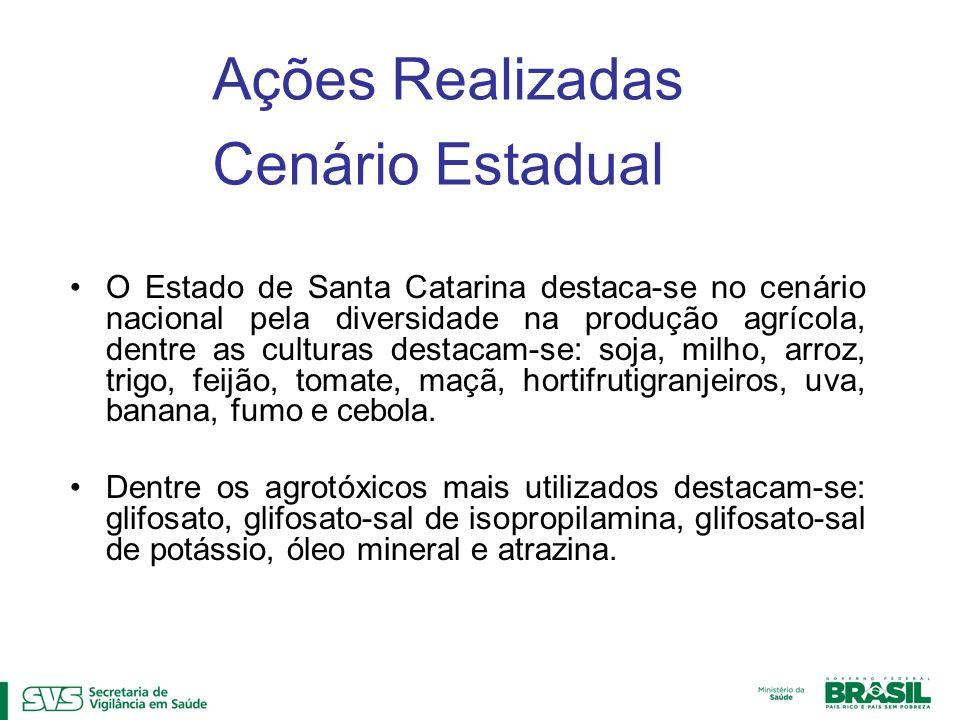 O Estado de Santa Catarina destaca-se no cenário nacional pela diversidade na produção agrícola, dentre as culturas destacam-se: soja, milho, arroz, t