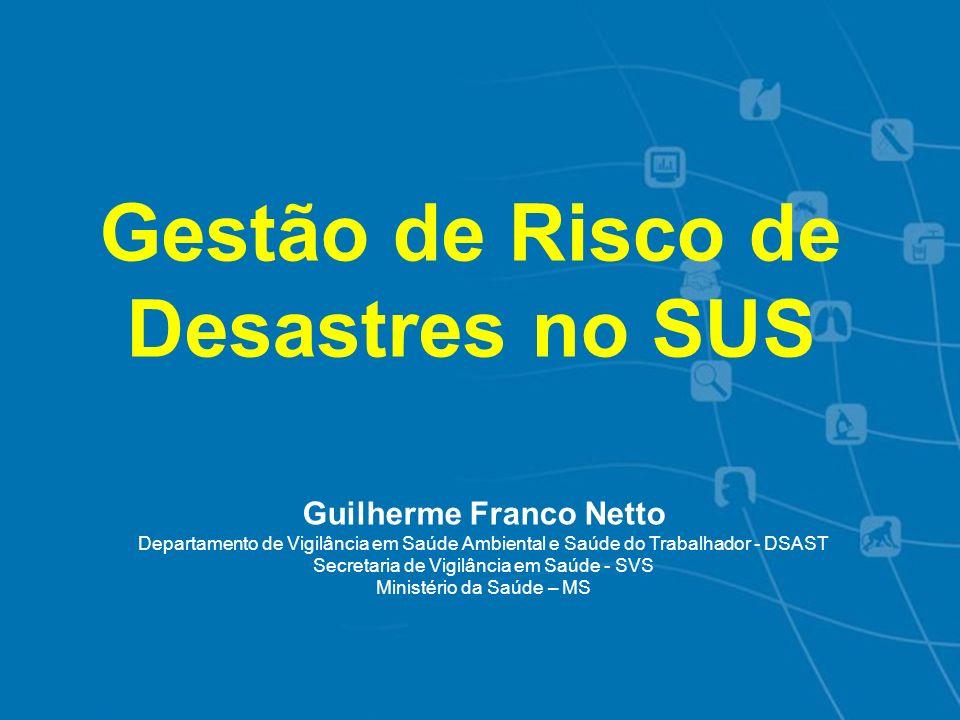 Ocorrência de Desastres Naturais - Brasil, 2003- 2010 Fonte: Dados SEDEC/MI Elaboração: DSAST/SVS/MS 2003 2004 2005 20072008 2009 2006 2010